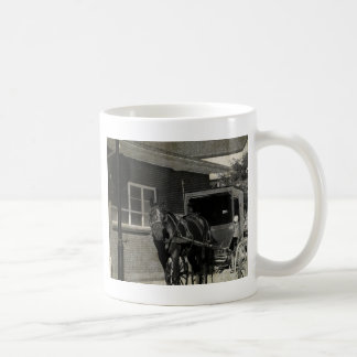 Stop for A Spell, Amish Horse at Stop Sign Mugs