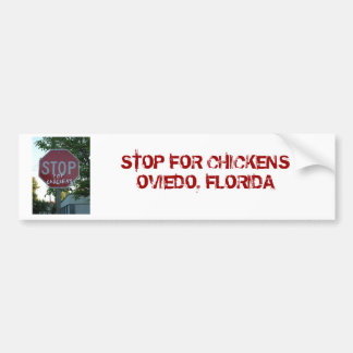 Stop for Chickens Bumper Sticker