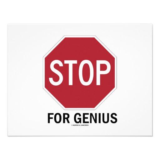 Stop For Genius (Stop Sign) Invite