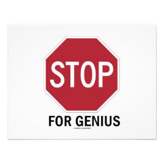 Stop For Genius Stop Sign Invite