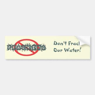 Stop Fracking Bumpersticker Bumper Sticker