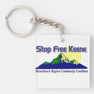 Stop Free Keene Keychain