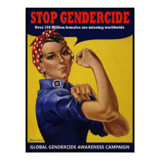 STOP GENDERCIDE: WE CAN DO IT POSTER