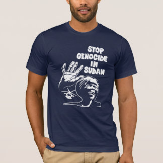 stop genocide in sudan (dark color, unisex) T-Shirt
