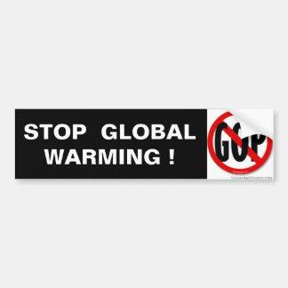 STOP  GLOBAL  WARMING ! BUMPER STICKER