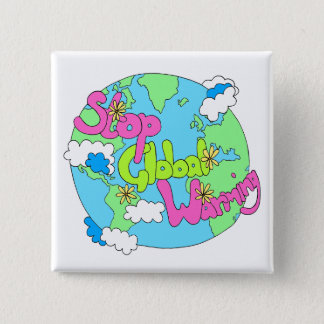Stop Global Warming | Button