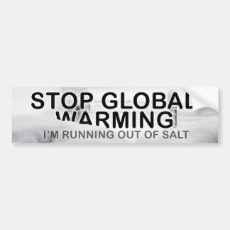 Stop Global Warming Car Bumper Sticker