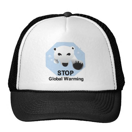 Stop Global Warming Mesh Hat