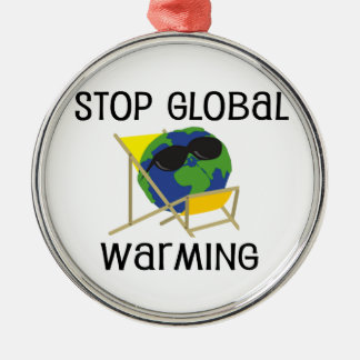 Stop Global Warming Metal Ornament