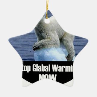 Stop Global Warming Now Ceramic Ornament