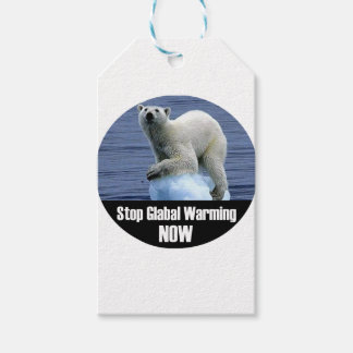 Stop Global Warming Now Gift Tags