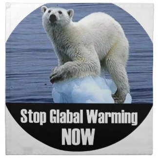 Stop Global Warming Now Napkin