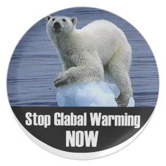 Stop Global Warming Now Plate