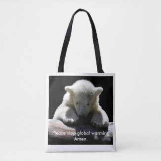 Stop Global Warming Polar Bear Tote Bag