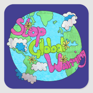 Stop Global Warming - Textured | Stickers