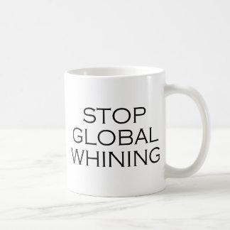 Stop Global Whining Basic White Mug