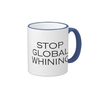 Stop Global Whining Ringer Coffee Mug