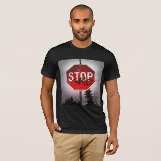 Stop GMO's Stop Sign Men's Shirt