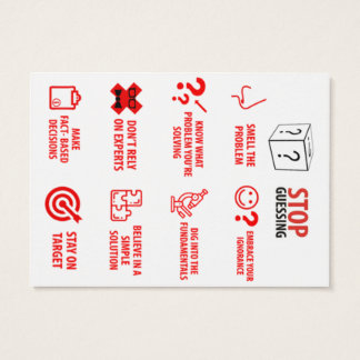 """Stop Guessing Pocket Card, 2.5"""" x 3.5"""" Business Card"""