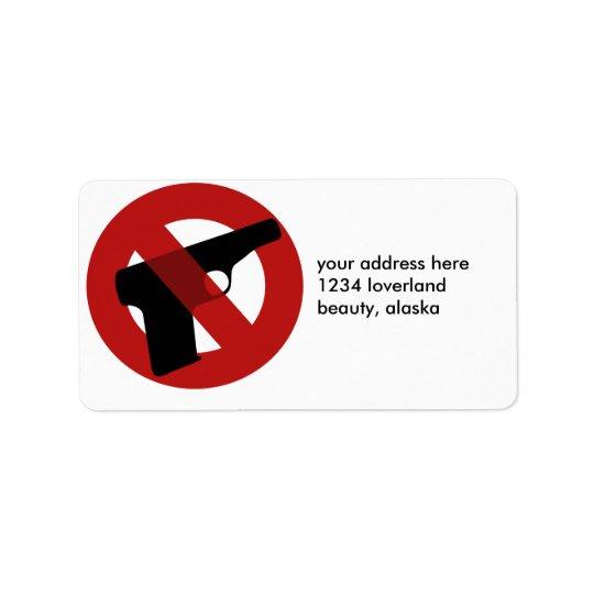 Stop Gun Violence Address Label