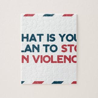 Stop Gun Violence Jigsaw Puzzle