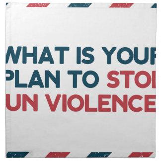 Stop Gun Violence Napkin