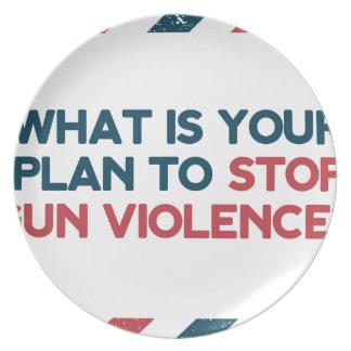 Stop Gun Violence Plate
