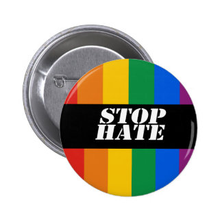 Stop Hate Bumper Sticker 6 Cm Round Badge