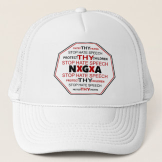 Stop Hate Speech Hat -White