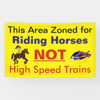 Stop High Speed Rail From Destroying Rural America Banner
