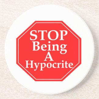 Stop Hypocrisy Coaster