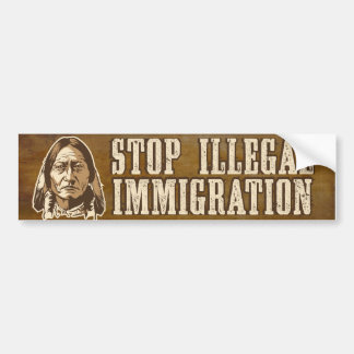 Stop Illegal Immigration Bumper Sticker