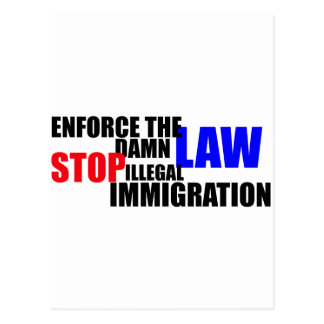 stop illegal immigration postcard
