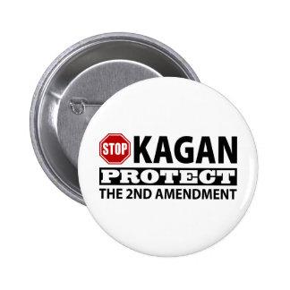 Stop Kagan Protect the Second Amendment 6 Cm Round Badge