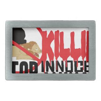 Stop Killing Animals Rectangular Belt Buckles