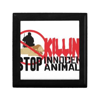 Stop Killing Animals Small Square Gift Box