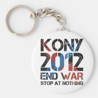 Stop Kony Basic Round Button Key Ring