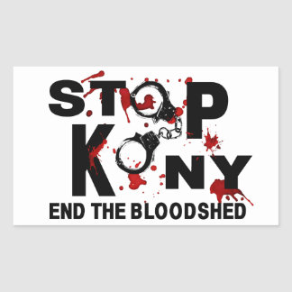 Stop Kony. End the Bloodshed. Rectangular Sticker