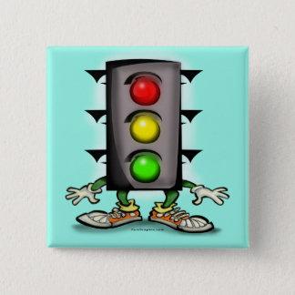 Stop Light Magnet 15 Cm Square Badge