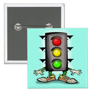 Stop Light Magnet 15 Cm Square Badge