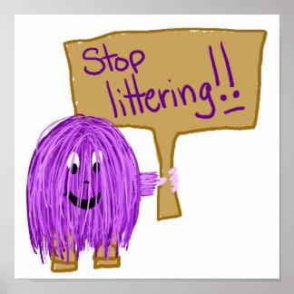 stop littering print
