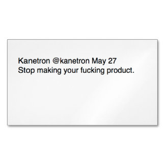 Stop Magnetic Business Card