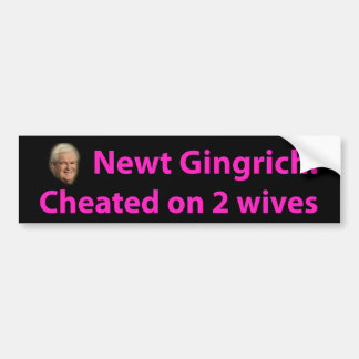 Stop Newt Gingrich! Bumper Sticker