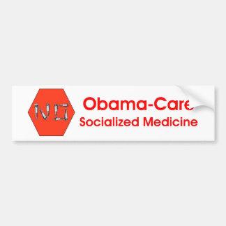 STOP-No Obama-care! Car Bumper Sticker