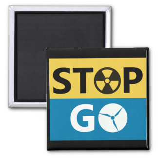Stop Nuclear Refrigerator Magnet
