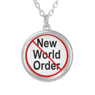 Stop NWO Silver Plated Necklace
