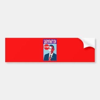 Stop Obamanation Pop Art Political Satire Product Bumper Sticker