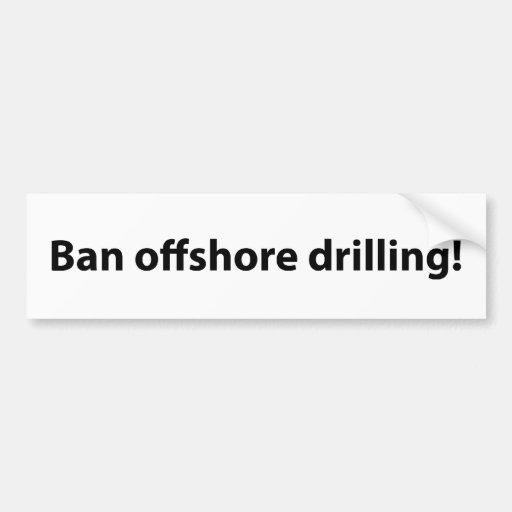 stop offshore drilling bumper sticker