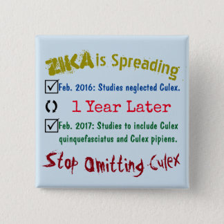 Stop Omitting Culex by RoseWrites 15 Cm Square Badge