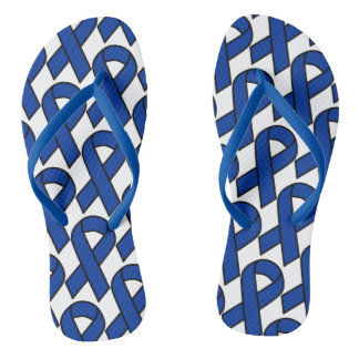 Stop out Colon Cancer flip flops